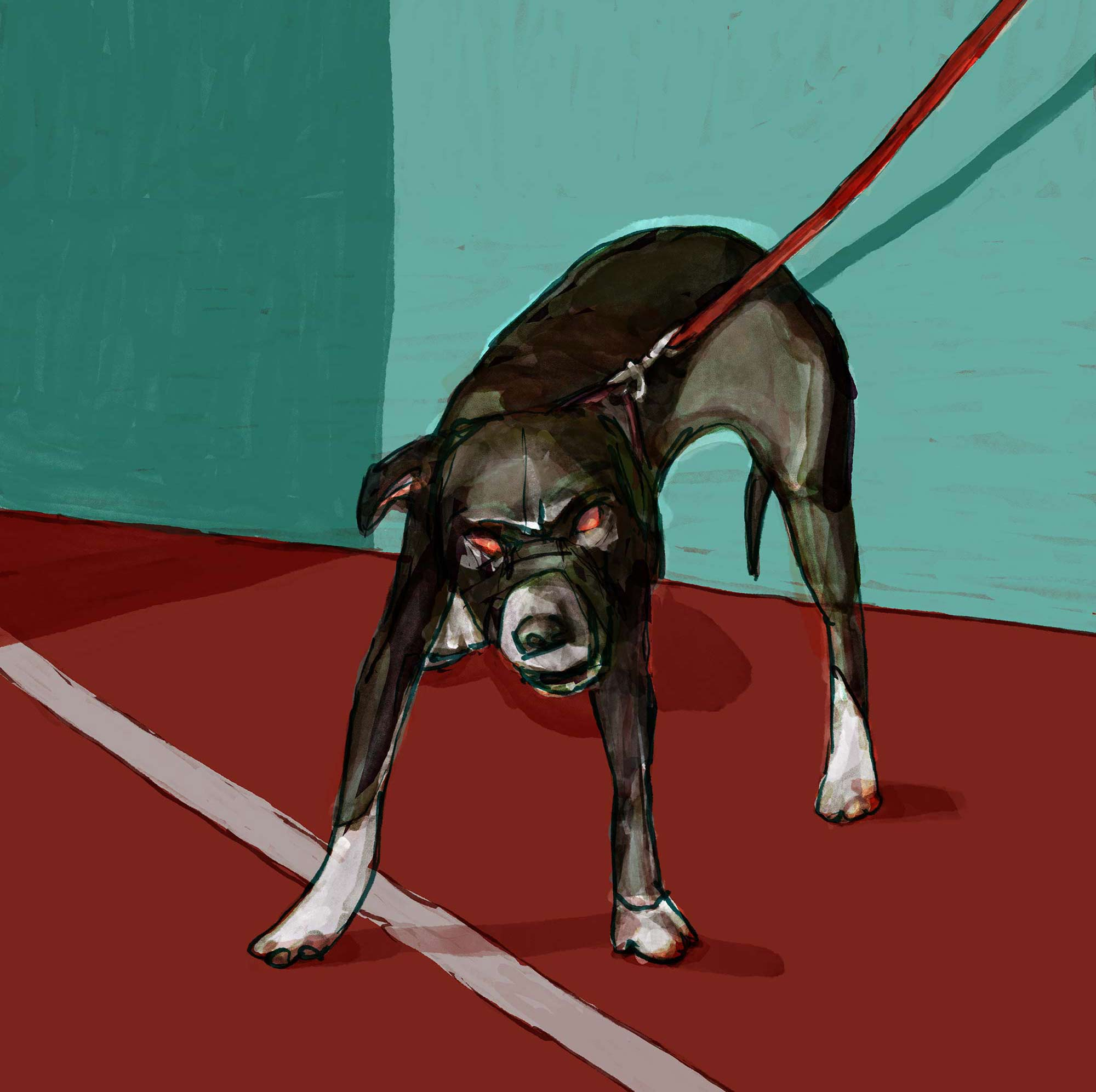 Mario Jodra illustration - A Dog - Un Perro